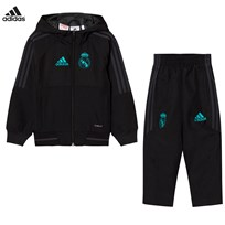Real Madrid Real Madrid ´17 Kids Training Tracksuit Top:BLACK/SOLID GREY F11 Bottom:BLACK/SOLID GREY F
