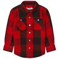 Stella McCartney Kids Mevil Check Skjorta Röd 6262