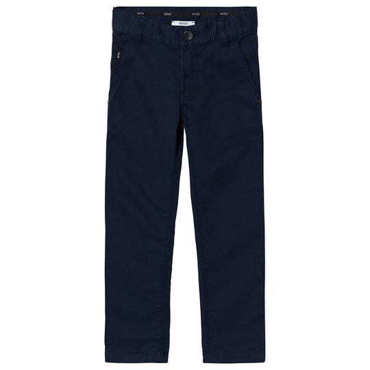 BOSS Navy Chino Trousers