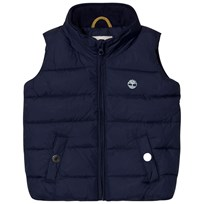 Timberland Navy Puffer Hooded Gilet 85T