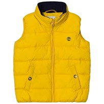 Timberland Yellow Puffer Hooded Gilet 566