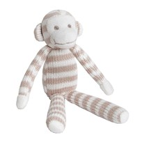BAMBINO Knitted Monkey White