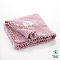 Pebble Pink Motif Blanket Pink