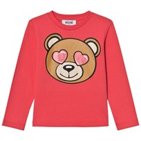 Moschino Kid-Teen Pink Heart Eye Bear Print Tee 50349