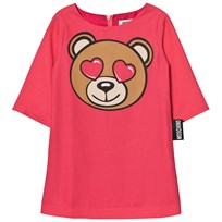 Moschino Kid-Teen Pink Bear Heart Dress 50349