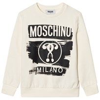 Moschino Kid-Teen White Milano Moschino Sweatshirt 10063