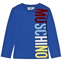 Moschino Kid-Teen Blue Branded Long Sleeve Tee 40931