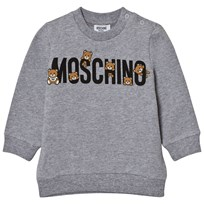 Moschino Kid-Teen Grey Multi Bear Branded Sweatshirt 60901