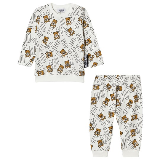 Moschino Kid-Teen Cream All Over Bear Jersey Tracksuit 81997