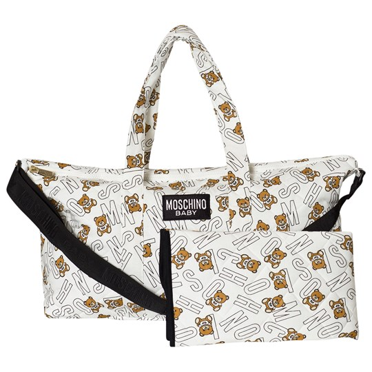 Moschino Kid-Teen White All Over Bear Branded Print Changing Bag 81997