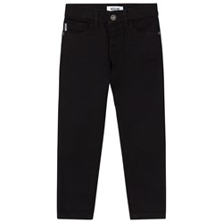 Moschino Kid-Teen Black Moschino Branded Slim Jeans