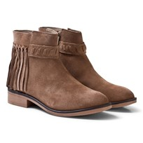 Mayoral Tan Leather Suede Fringed Boots 70