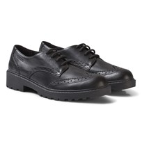 Geox Black Casey Leather Brogues C9999