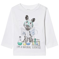 Mayoral White Mouse Scientist Print Tee