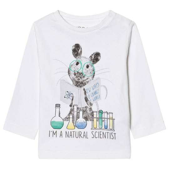 Mayoral White Mouse Scientist Print Tee 46