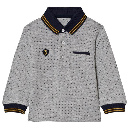 Mayoral Grey Spot Polo with Navy Cuffs 87