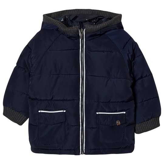 Mayoral Navy Padded Hooded Coat 96
