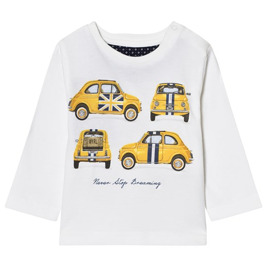 Mayoral Off-White Car Print Long Sleeve Tee 81