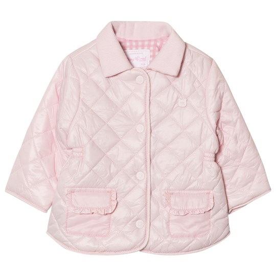 Mayoral Pink Quilted Collared Coat 48