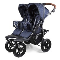 carena Gotland Double Stroller 2017 Blue Silver Chassi Blue
