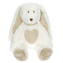 Teddykompaniet Teddy Cream Bunny Large White Hvit