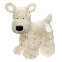Teddykompaniet Teddy Cream Dog XL Grey Grå
