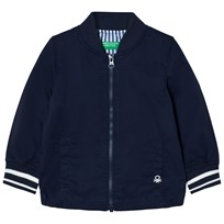 United Colors of Benetton Cotton Bomber Jacket Navy Navy