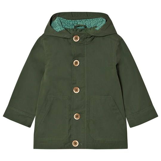 United Colors of Benetton Hooded Parka Jacket  Khaki Green Khaki Green