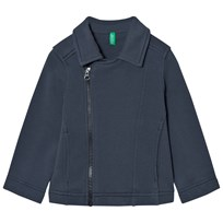 United Colors of Benetton Jersey Zip Jacket Dark Grey Dark grey