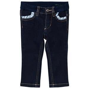 Image of United Colors of Benetton Dark Wash Skinny Denim With Frill Pockets Indigo XS (4-5 år) (2743711137)