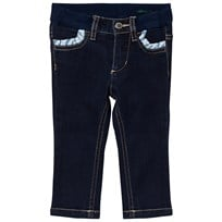 United Colors of Benetton Dark Wash Frill Pockets Skinny Jeans Indigo INDIGO