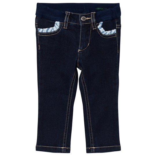 United Colors of Benetton Dark Wash Skinny Denim With Frill Pockets Indigo INDIGO