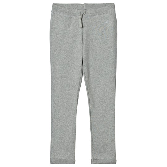 United Colors of Benetton Basic Jersey Joggers With Glitter Logo Detail Light Grey Light Grey