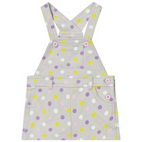 United Colors of Benetton Jersey Polka Dot Dungaree Dress Light Grey Light Grey