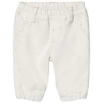 United Colors of Benetton Woven Pants Frill Front Cream Cream