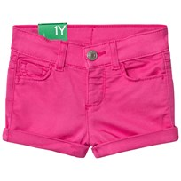 United Colors of Benetton Five Pocket Shorts Fuschia Pink Fuschia Pink