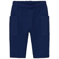 United Colors of Benetton Soft Ribbed Pants with Side Pockets Navy Navy
