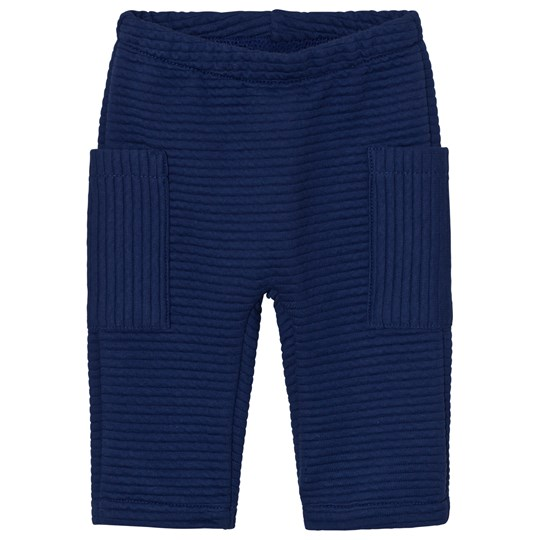 United Colors of Benetton Soft Ribbed Trouser With Side Pockets Navy Navy