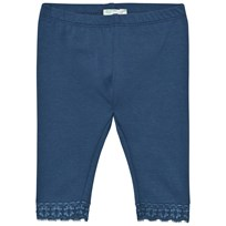United Colors of Benetton Classic Leggings With Lace Trim Hem Navy Navy