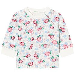 United Colors of Benetton Floral Print Jersey Sweater Light Grey