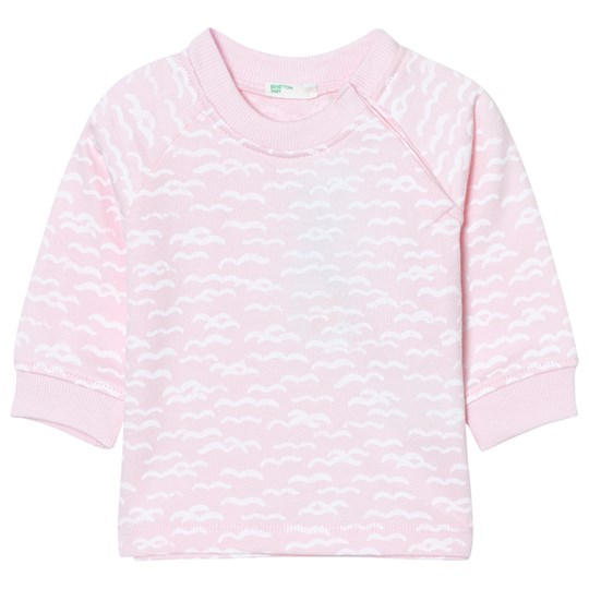United Colors of Benetton Wave Print Jersey Sweater Rosa Pink