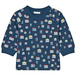 United Colors of Benetton House Print L/s Jersey Sweater Navy