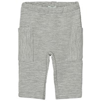 United Colors of Benetton Soft Ribbed Pants with Side Pockets Grey Black