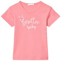 United Colors of Benetton Logo T-shirt Pink Pink