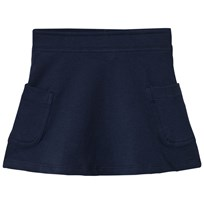 United Colors of Benetton Jersey A Line Skirt With Side Pockets Navy Marinblå