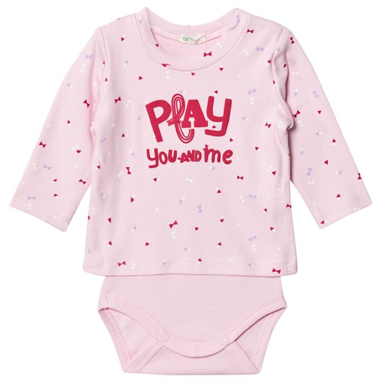 United Colors of Benetton Printed Sweater Baby Body Rosa Pink