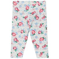 United Colors of Benetton Floral Print Jersey Leggings Light Grey Light Grey