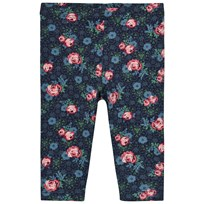 United Colors of Benetton Floral Print Jersey Leggings Navy Navy