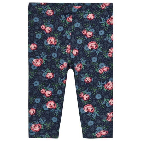 United Colors of Benetton Floral Print Leggings Marinblå Navy