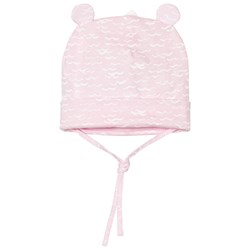 United Colors of Benetton Wave Print Jersey Hat Light Pink